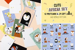 Animal cards & gift labels
