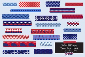 Nautical Washi Tape Clipart