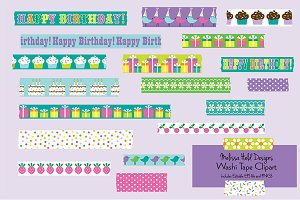 Birthday Washi Tape Clipart