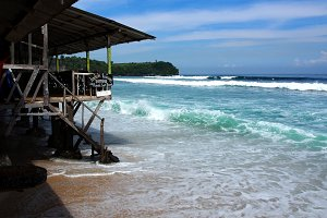 Warung by the Indian Ocean