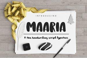 Maaria Handwriting Script Typeface