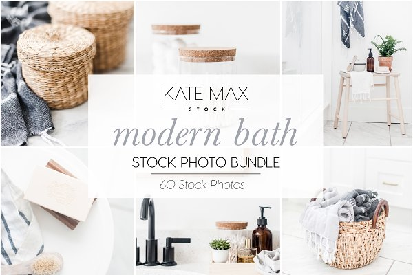Modern Bath Stock Photo Bundle