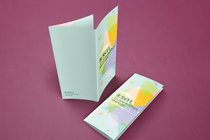 Trifold Brochure Mockups 8.5x11