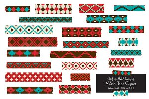 Native American Washi Tape Clipart