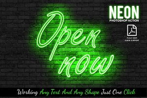 Neon Photoshop Action