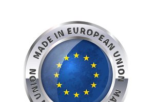 Made in European Union badge