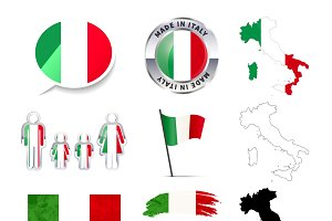 Set of Italy infographics elements
