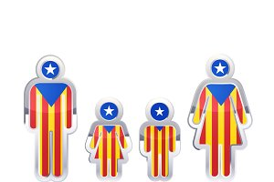 People icons with Catalonia flag