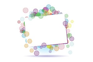 Holiday frame beautiful with place for your text
