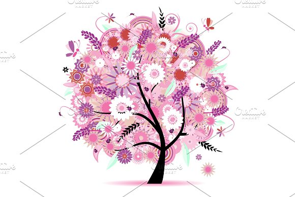 Floral tree beautiful