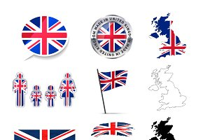 United Kingdom infographics elements
