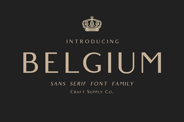 Sans Serif Fonts: Craft Supply Co. - Belgium Font Family