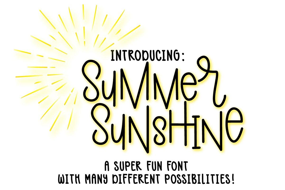 Summer Sunshine Font - Hand Lettered