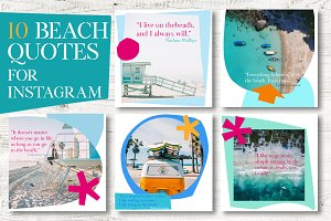 Colorful Beach Instagram Templates