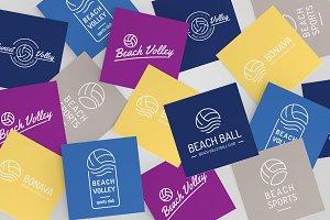 Volleyball Logo Set