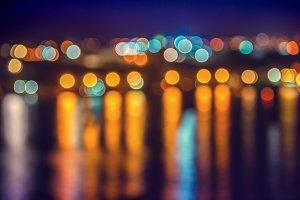 bokeh background, city lights