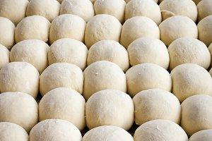 raw dough balls background