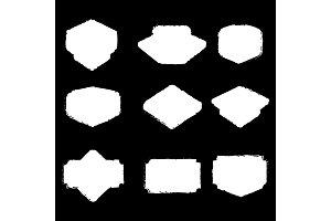 grunge white badge set