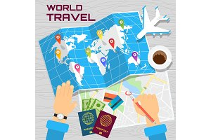 world travel banner