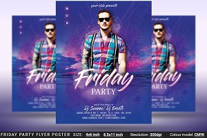 Friday Party Flyer Poster