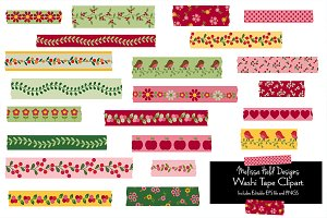 Woodland Washi Tape Clipart