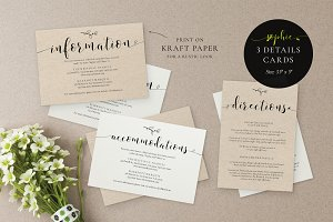 Wedding Information Cards, Sophie