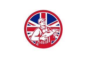 British Fishmonger Union Jack Flag M