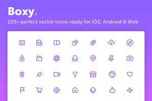 Boxy. Powerful Icon Set