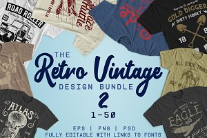 Retro Vintage Design Bundle 2 (1-50)