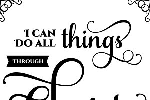 I Can Do All Things: Vector EPS, SVG