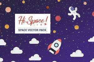 Hi Space! VECTOR ILLUSTRATION PACK