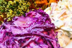 Healthy organic food, salad, breakfa