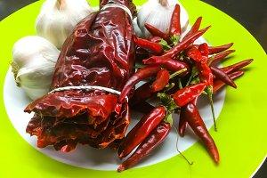 Organic vegetable, hot chilli pepper
