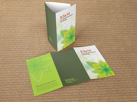 trifold brochure mockups 8 5x14 size product mockups creative market