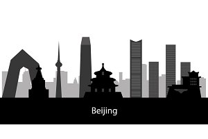Beijing city skyline. collection