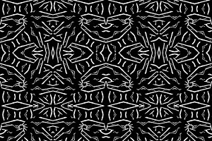 Bold Dark Ethnic Mirrored Seamless Pattern
