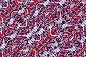 Geometric Tech Pattern