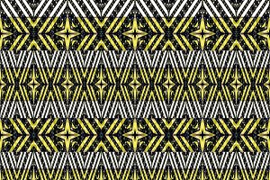Striped Ornated Geometric Seamless Pattern