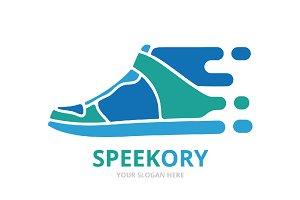Vector fast sneaker logo