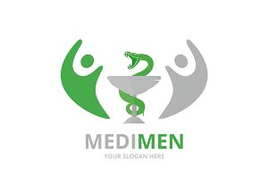 Vector medicine and people logo