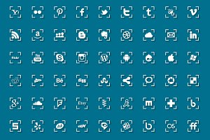 Social media icons - with shadow