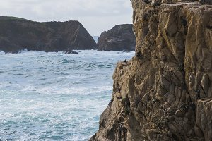 rocky sea cliffs