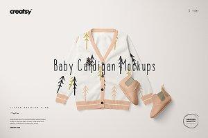 Baby Cardigan Mockup Set