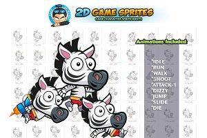 Zebra 2D Game Sprites