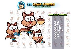 Squirrel 2D Game Sprites
