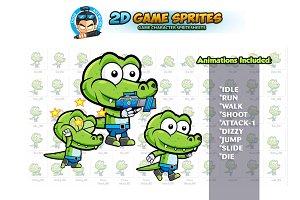 Crocodile 2D Game Sprites