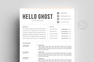 Creative Resume Template | 4 Pages