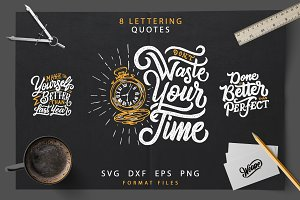 SVG Lettering Motivational Quotes