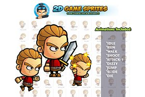 Warrior  2D Game Sprites