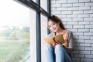 Reading in Cozy House
